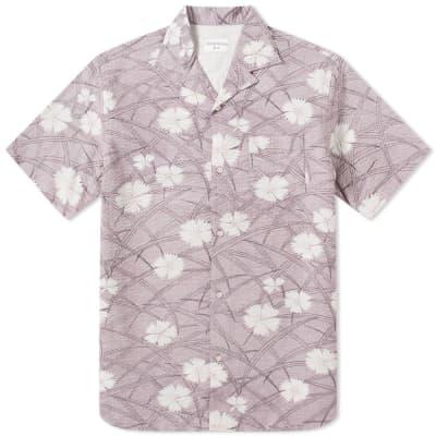 Officine Generale Short Sleeve Dario Seersucker Shirt