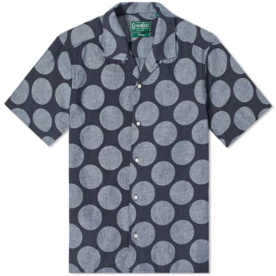 Gitman Vintage Short Sleeve Camp Collar Dot Shirt