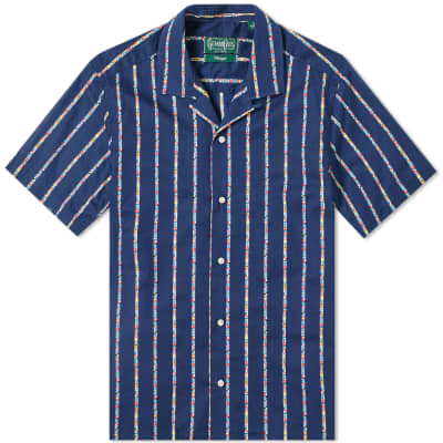 Gitman Vintage Short Sleeve Camp Collar Maritime Shirt