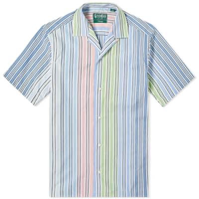 Gitman Vintage Short Sleeve Camp Collar Multi Stripe Shirt