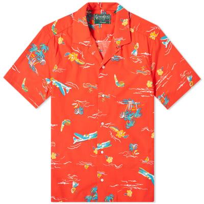 Gitman Vintage Short Sleeve Camp Collar Surf & Turf Shirt