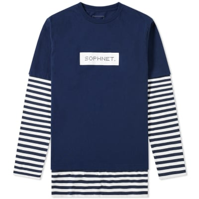 SOPHNET. Long Sleeve Fake Layered Tee
