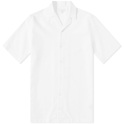 Sunspel Cotton Camp Collar Short Sleeve Shirt