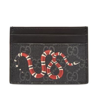 Gucci GG Supreme Snake Card Holder