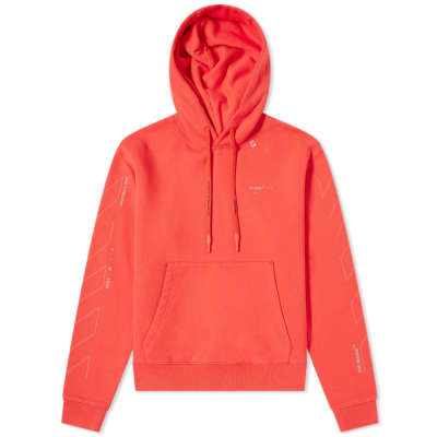 Off-White Diagonal Sleeve Unfinished Popover Hoody
