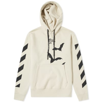 Off-White Diagonal Sleeve Bats Slim Popover Hoody