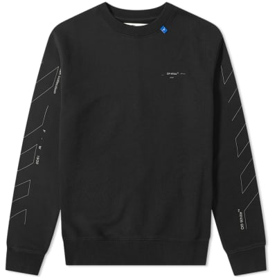 Off-White Unfinished 3M Arrow Crew Sweat