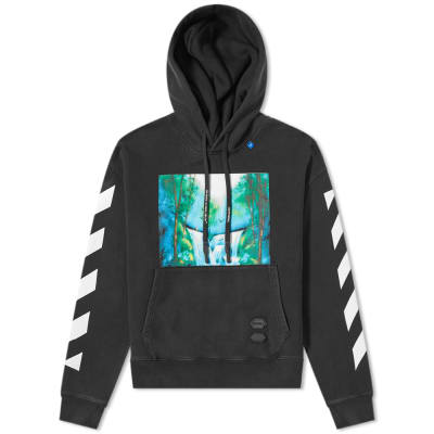 Off-White Waterfall Chevron Sleeve Oversized Hoody