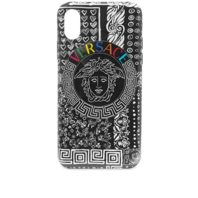 Versace Medusa Multi Logo iPhone XS Case