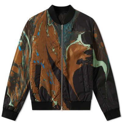 Dries Van Noten Reversible Marble Print Jacket