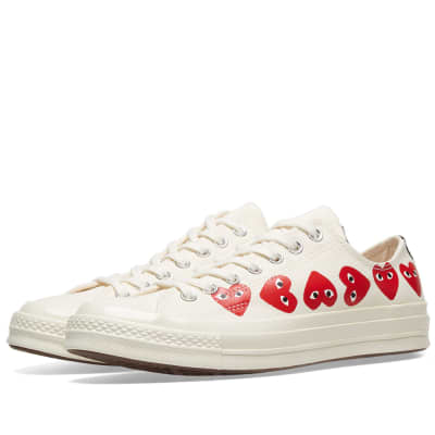 Comme des Garcons Play x Converse Chuck Taylor Multi Heart 1970s Ox