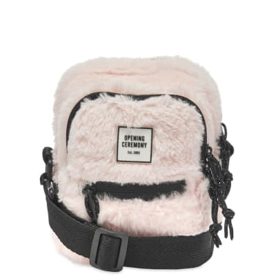 Opening Ceremony Faux Fur Mini Cross-Body Bag