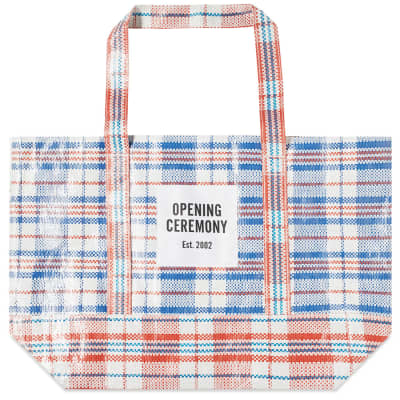Opening Ceremony Plaid Tote Medium