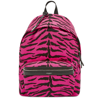 Saint Laurent Zebra City Backpack