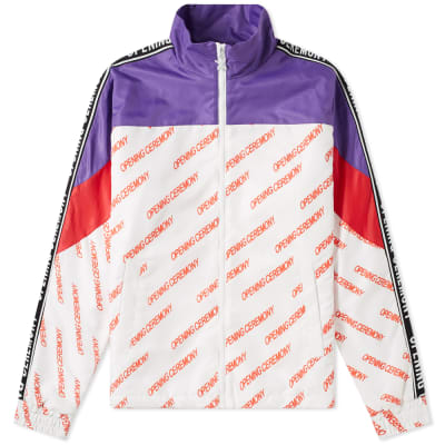 Opening Ceremony Retro Print Warm Up Jacket