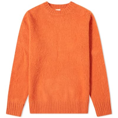 Aspesi Brushed Shetland Wool Crew Knit