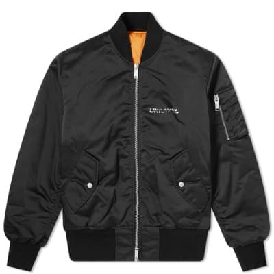 Unravel Project Bones Logo Nylon Bomber Jacket
