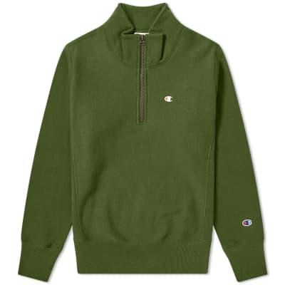 Champion Reverse Weave Quarter Zip Small Logo Sweat
