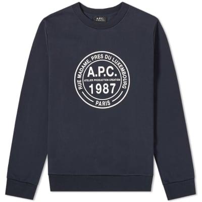 A.P.C. Simon Logo Crew Sweat