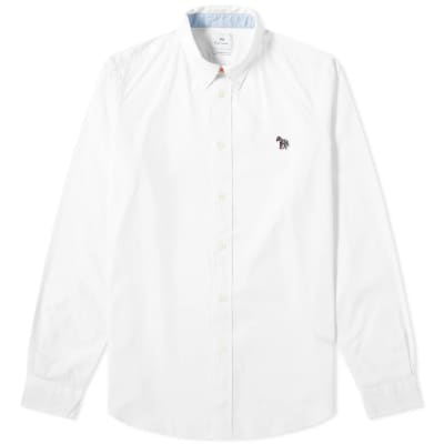 Paul Smith Button Down Zebra Oxford Shirt