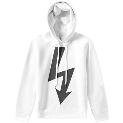 Neil Barrett Large Lightning Bolt Side Zip Hoody