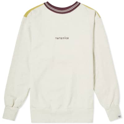 Nanamica Logo Crew Sweat