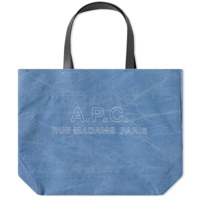 A.P.C. Igor Stitch Tote Logo Bag