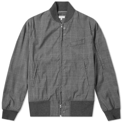Engineered Garments Aviator Checked Wool Jacket