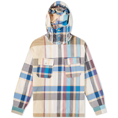 Engineered Garments Cagoule Popover Madras Shirt Jacket