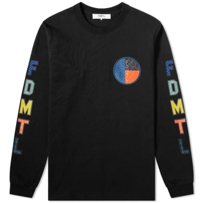 FDMTL Long Sleeve Circle Sashiko Boro Logo Tee