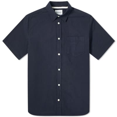 Norse Projects Short Sleeve Osvald Seersucker Shirt
