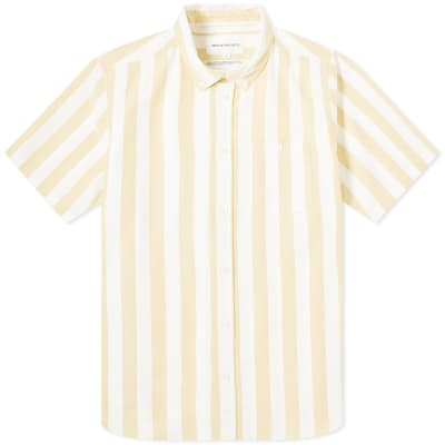 Norse Projects Short Sleeve Theo Wide Stripe Oxford Shirt