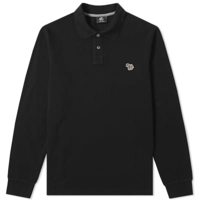 Paul Smith Long Sleeve Regular Fit Zebra Polo