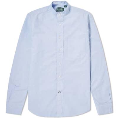 Gitman Vintage Band Collar Oxford Shirt