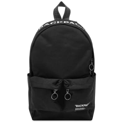 Off-White Quote All Over Print Backpack