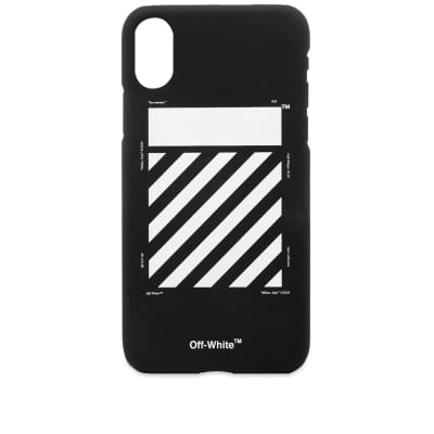 Off-White Diagonal Logo iPhone X Case
