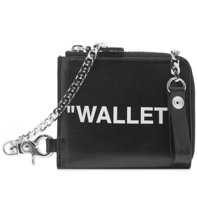 "Off-White ""QUOTE"" Chain Wallet"