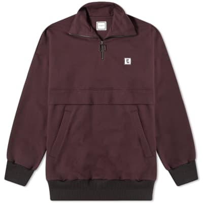 Wooyoungmi Patch Logo Quarter Zip Sweat