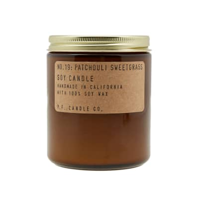 P.F. Candle Co No.19 Patchouli Sweetgrass Soy Candle