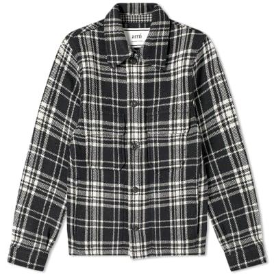 AMI Prince Of Wales Wool Jacket