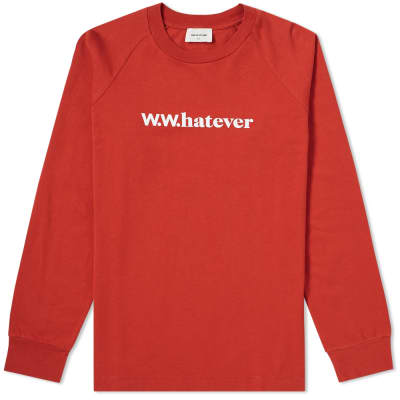 Wood Wood Long Sleeve Han Whatever Tee