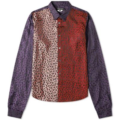 Comme des Garcons Homme Plus Patchwork Leopard Print Shirt