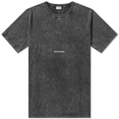 Saint Laurent Destroyed Archive Logo Tee