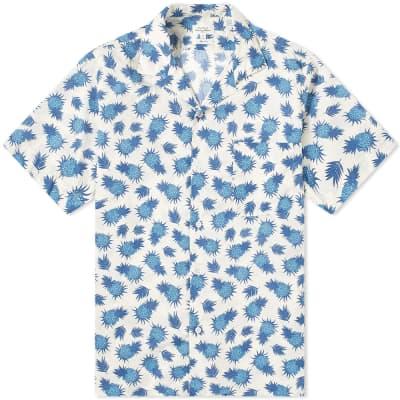 Hartford Pineapple Print Vacation Shirt