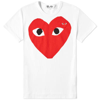 Comme des Garcons Play Women's Double Heart Logo Tee