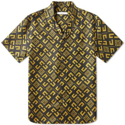 Givenchy Short Sleeve 4G Cubism Shirt
