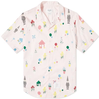Thom Browne All Over Gnome Print Vacation Shirt