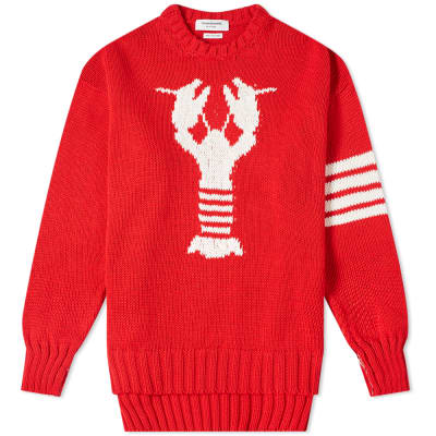 Thom Browne Lobster Intarsia Crew Knit