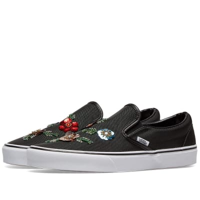 Vans UA Classic Slip On Floral Sequins
