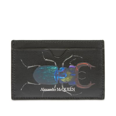 Alexander McQueen Beetle Print Card Holder